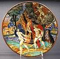 Urbino o pesaro, tondino con apollo e dafne, 1530-40 ca..JPG