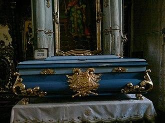Stefan Uroš V - Relic case with relics of Uroš V, Jazak monastery.