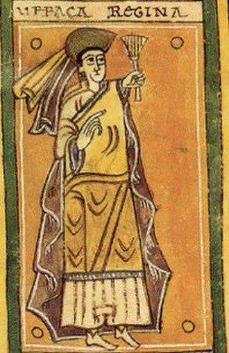 Urraca Fernández - Urraca Fernández, from the Codex Vigilanus