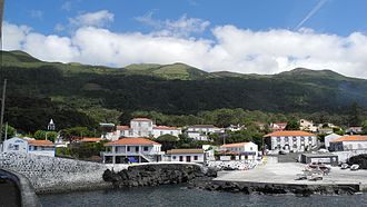 Urzelina - The urban centre of the parish seat of Urzelina including port and fajã
