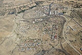 Usakos City in Erongo Region, Namibia