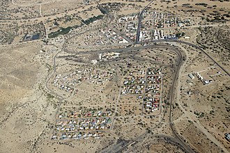 Usakos - Aerial photograph of Usakos (2018)