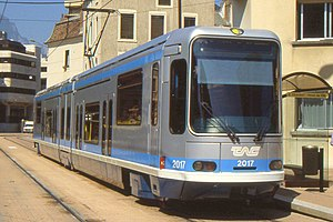 Grenoble tramway - Alsthom TFS tram in Grenoble