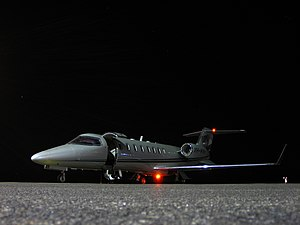 Learjet 45 - Nighttime View of the Learjet 45