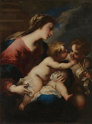 Valerio Castello - The Virgin and Child with Saint John the Baptist