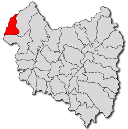 Location of Vârghiș