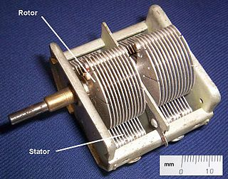Variable capacitor capacitor whose capacitance may be intentionally and repeatedly changed mechanically or electronically. Variable capacitors are often used in L/C circuits to set the resonance frequency