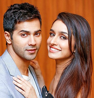 Varun Dhawan - Dhawan with co-star Shraddha Kapoor at a promotional event for ABCD 2, 2015