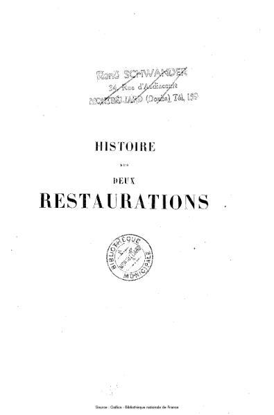 File:Vaulabelle - Histoire des deux restaurations jusqu'à l'avènement de Louis-Philippe, tome 4.djvu
