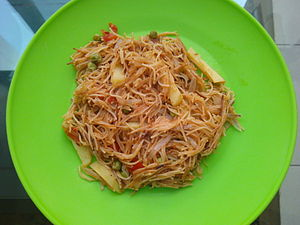 Vermicelli - Vegetable and Vermicelli, locally known as Semiya Upma, from India.