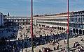 Venezia Basilica di San Marco Terrasse Blick auf die Piazza San Marco 4.jpg