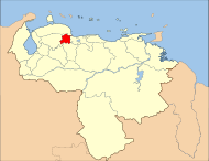 Venezuela Yaracuy State Location.svg