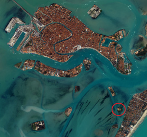 Venice San Lazzaro location map.png