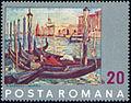 Venice gondolas by Nicolae Dărăscu 1972 Romanian stamp.jpg