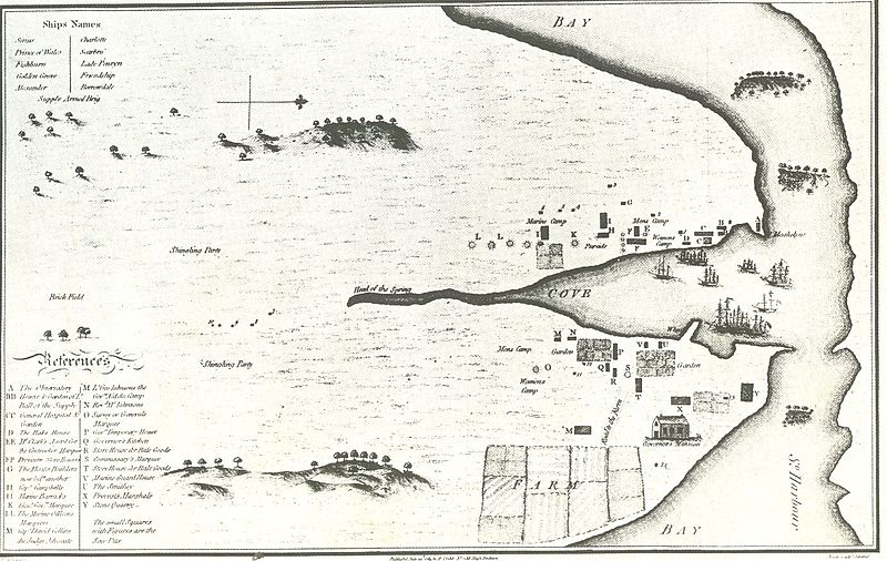 Datei:Very early map of sydney from 1789.jpg