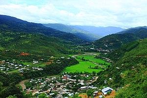 Senapati district - Image: View of New Karong