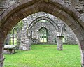 View across the ruined nave of St. John's, Llanwarne - geograph.org.uk - 945868.jpg