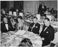 View of table at the dinner honoring President Truman and Vice President Alben Barkley at the Mayflower Hotel in... - NARA - 200010.tif