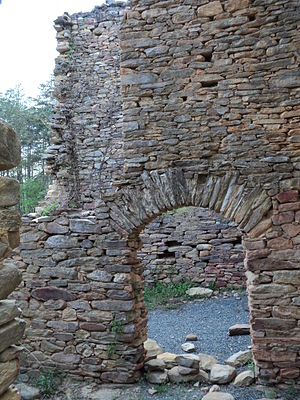 Stokes County, North Carolina - Ruins of the Rock House, c. 1770, built by Capt. Jack Martin, Revolutionary War soldier and pioneer. National Register of Historic Places