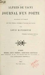 Alfred de Vigny: Journal d'un poète