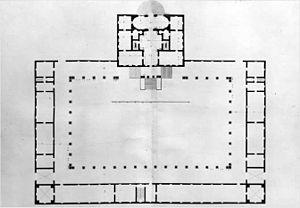 Villa Pisani, Bagnolo - Image: Villa Pisani Bagnolo pianta Bertotti Scamozzi 1778
