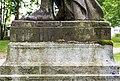 Villach Peraustraße Schillerpark Statue der Amaltheia mit Füllhorn Inschrift 28052018 3457.jpg