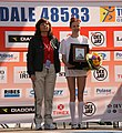 Vincenza Sicari - 2008 Turin Marathon podium.jpg