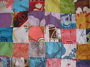 Aloha shirt - Quilt made from vintage aloha shirt fabric, circa 1960s.