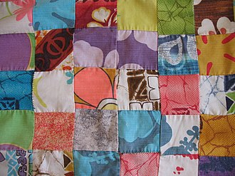 Aloha shirt - Quilt made from vintage aloha shirt fabric, circa 1960s