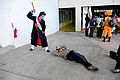 Visitor Lying on the Ground Photographing Face of Cosplayer 20150509.jpg