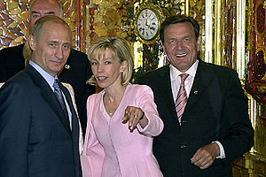 Doris Schröder-Köpf - With Vladimir Putin in Saint Petersburg, 2003.