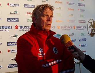 SC Freiburg - Volker Finke, former coach of SCF and longest serving coach in German football history