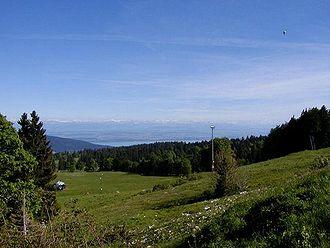 Vue des Alpes, Blick nach Südosten