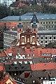 Würzburg, Blick von der Festung Marienberg zur Kirche St. Peter und Paul.jpg