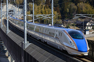 Hokuriku Shinkansen - A JR West W7 series train on the Hokuriku Shinkansen
