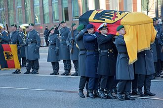 Military funeral - Funeral of Helmut Schmidt, former German Chancellor and Minister of Defence