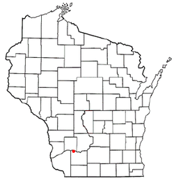 Location of Avoca, Wisconsin