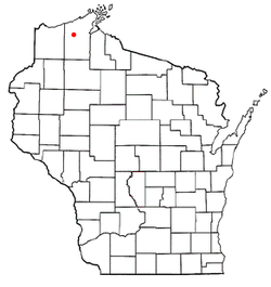 Location of Iron River, Wisconsin