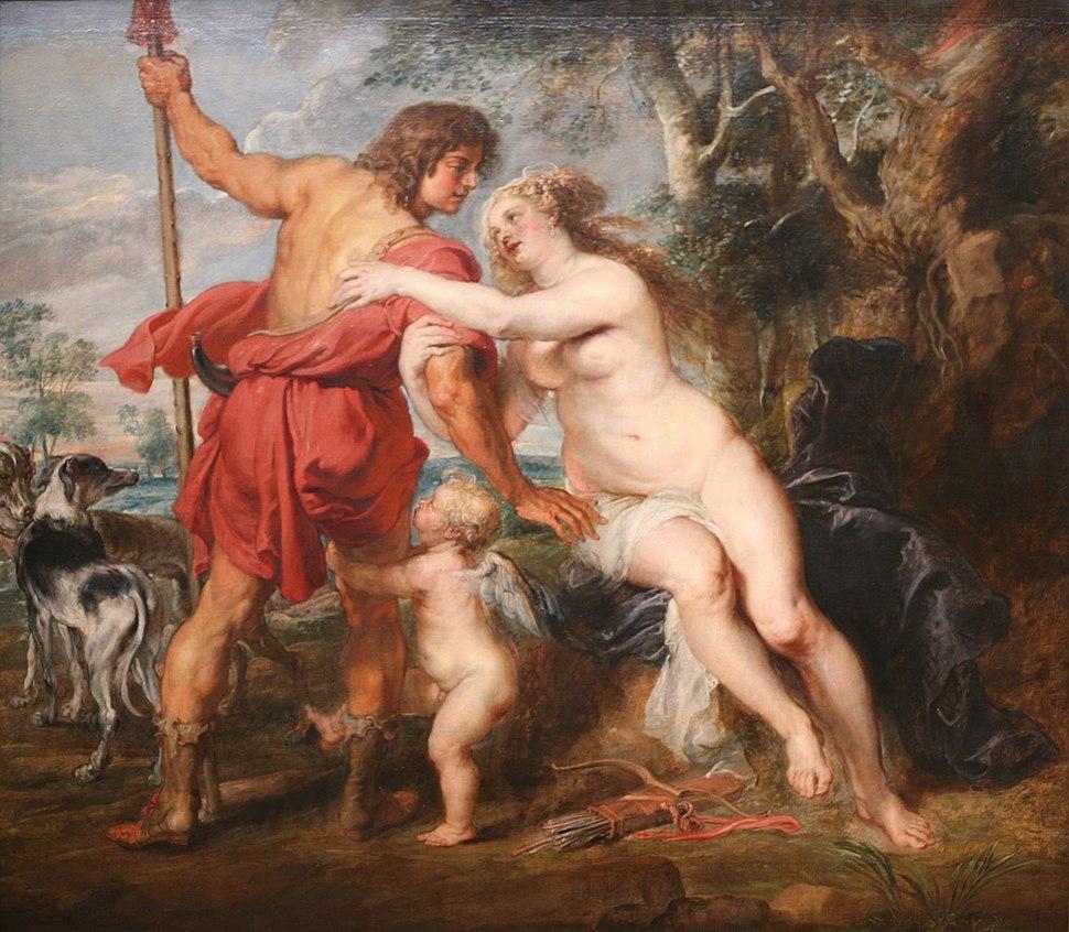 WLA metmuseum Venus and Adonis by Peter Paul Rubens
