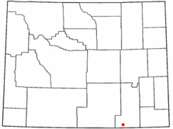 Location of Woods Landing-Jelm, Wyoming