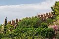 Walls, merlons, Alcazaba gardens, Almeria, Spain.jpg