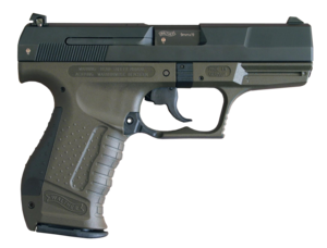 Handgun - A 9×19mm Walther P99, German semi-automatic pistol