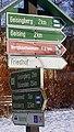 Wanderwegweiser an der Dresdner Straße-Bahnhofsstraße in Altenberg.jpg