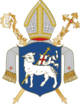 Original Coat of arms Coat of arms of the Prince-Bishopric of Warmia as a part of Poland of Warmia