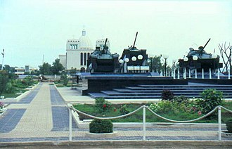 Eritrean War of Independence - The War memorial square in Massawa, Eritrea.