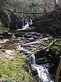 Waterfall on Nant Cwm Llwch - geograph.org.uk - 396934.jpg