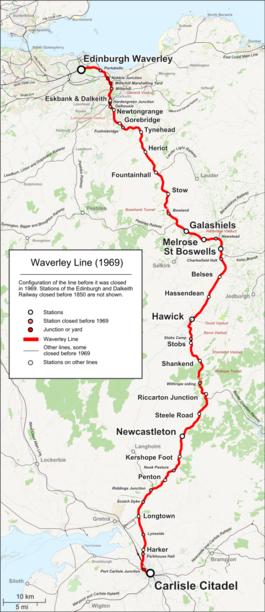 Waverley route wikipedia waverley line 1969 eng publicscrutiny Gallery