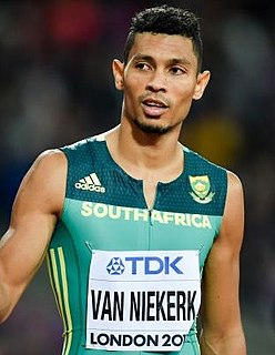 Wayde van Niekerk South African sprinter
