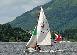 Wayfarer (dinghy) - MK II Wayfarer dinghy on Derwentwater, Cumbria.