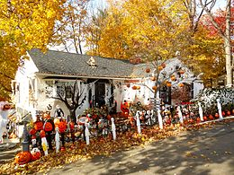 decorated house in weatherly pennsylvania - Where Did The Holiday Halloween Come From